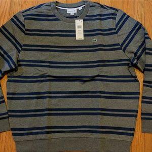 Men's Lacoste Striped Crewneck Sweatshirt